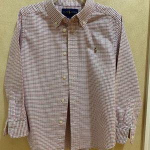 Ralph Lauren Boys Long S Button Down Shirt Size 5